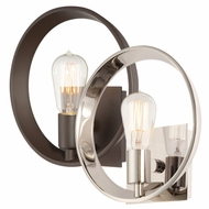 Quoizel UPTR8701 Uptown Theater Row by Sergio Orozco Contemporary Bare Bulb 10 Inch Tall Circle Wall Lamp