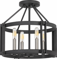 Quoizel VC1716MB Victor Modern Mottled Black Ceiling Light