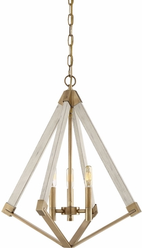 Quoizel VP5203WS View Point Contemporary Weathered Brass Mini Chandelier Lighting