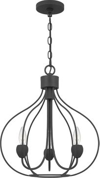 Quoizel WAL5017GK Walsh Contemporary Grey Ash Mini Chandelier Light