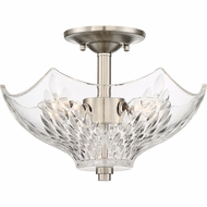 Quoizel WCR1613BN Westchester Brushed Nickel Flush Mount Ceiling Light Fixture