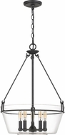 Quoizel WEL2818GK Wells Contemporary Grey Ash Hanging Pendant Lighting