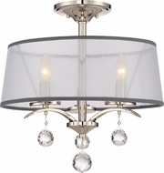 Quoizel WHI1716IS Whitney Imperial Silver Flush Mount Light Fixture