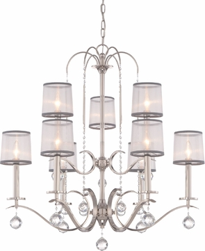 Quoizel WHI5009IS Whitney Imperial Silver Chandelier Lighting