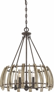 Quoizel WHL2821RK Wood Hollow Modern Rustic Black Hanging Lamp