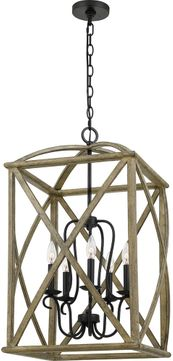 Quoizel WHN5205DW Woodhaven Distressed Weathered Oak 20 Foyer Lighting