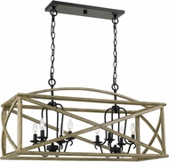 Quoizel WHN841DW Woodhaven Distressed Weathered Oak Kitchen Island Light Fixture