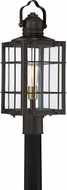Quoizel WTO9009WT West Oak Western Bronze Exterior Lighting Post Light