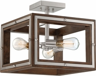 Quoizel WTY1715BN Westerly Modern Brushed Nickel Flush Ceiling Light Fixture