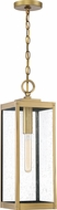 Quoizel WVR1907A Westover Modern Antique Brass Outdoor Hanging Pendant Light