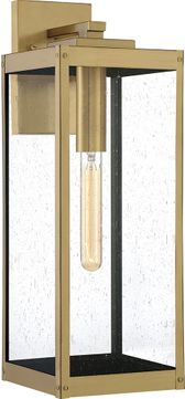 Quoizel WVR8407A Westover Contemporary Antique Brass Exterior 20  Wall Sconce Light