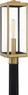 Quoizel WVR9007A Westover Modern Antique Brass Outdoor Lamp Post Light Fixture