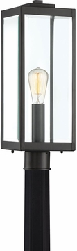 Quoizel WVR9007EK Westover Contemporary Earth Black Outdoor Lamp Post Light