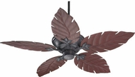 Quorum 135525-44 Monaco Toasted Sienna w/ Rosewood Blades Outdoor 52 Home Ceiling Fan