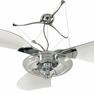 Quorum 14583-914 Jellyfish Contemporary Chrome w/ Clear Blades Halogen 58  Home Ceiling Fan