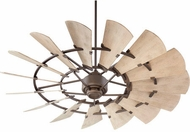 Quorum 196015-86 Windmill Contemporary Oiled Bronze w/ Weathered Oak Blades Exterior 60 Ceiling Fan