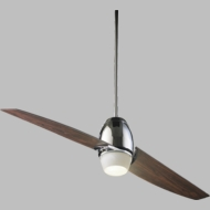 Quorum 21542-14 Muse Contemporary Chrome w/ Dark Teak Blades Halogen 54  Home Ceiling Fan