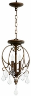 Quorum 2705-10-39 Ariel Traditional Vintage Copper Foyer Light Fixture