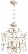 Quorum 2844-4-70 Venice Traditional Persian White Drum Drop Lighting Fixture