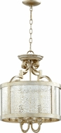 Quorum 2881-16-60 Champlain Traditional Aged Silver Leaf Drum Lighting Pendant