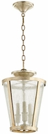 Quorum 289-3-60 Aged Silver Leaf w/ Clear/Seeded Foyer Lighting