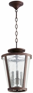 Quorum 289-3-86 Oiled Bronze w/ Clear/Seeded Foyer Light Fixture