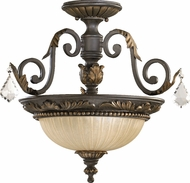 Quorum 2957-17-44 Rio Salado Traditional Toasted Sienna With Mystic Silver Ceiling Lighting