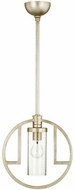 Quorum 303-60 Julian Modern Aged Silver Leaf w/ Clear/Seeded Hanging Lamp