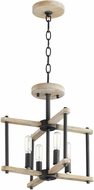 Quorum 3134-14-69 Silva Contemporary Noir with Weathered Oak Pendant Lighting