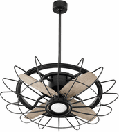 Quorum 32304-69 Mira Contemporary Noir LED Home Ceiling Fan