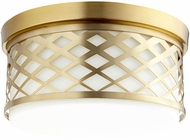 Quorum 341-14-80 Tommy Aged Brass Ceiling Light Fixture