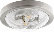 Quorum 3502-13-65 Contemporary Satin Nickel w/ Clear/Seeded 13 Flush Mount Ceiling Light Fixture