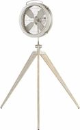 Quorum 35154-65 Mariana Contemporary Satin Nickel Floor Fan