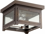 Quorum 357-13-86 Riverdale Oiled Bronze Outdoor Ceiling Light