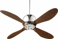 Quorum 36524-14 Elica Contemporary Chrome w/ Walnut Blades Halogen 52  Home Ceiling Fan
