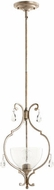 Quorum 3814-60 Ansley Traditional Aged Silver Leaf Mini Lighting Pendant