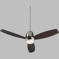 Quorum 42523-65 Bronx Satin Nickel w/ Walnut Blades Halogen 52  Home Ceiling Fan