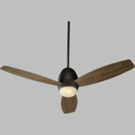 Quorum 42523-86 Bronx Oiled Bronze w/ Walnut Blades Halogen 52  Ceiling Fan