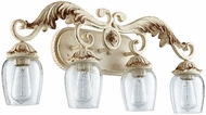 Quorum 5037-4-70 Florence Traditional Persian White 4-Light Bath Light Fixture