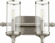 Quorum 5044-2-65 Collins Modern Satin Nickel 2-Light Bathroom Lighting