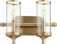 Quorum 5044-2-80 Collins Modern Aged Brass 2-Light Lighting For Bathroom