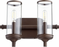 Quorum 5044-2-86 Collins Modern Oiled Bronze 2-Light Bath Lighting