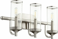 Quorum 5044-3-65 Collins Contemporary Satin Nickel 3-Light Bathroom Light