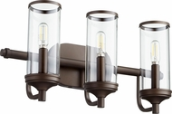 Quorum 5044-3-86 Collins Contemporary Oiled Bronze 3-Light Vanity Lighting