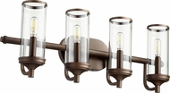 Quorum 5044-4-86 Collins Modern Oiled Bronze 4-Light Bath Lighting Fixture