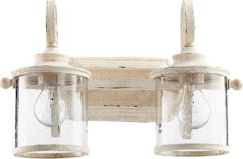 Quorum 5073-2-70 San Miguel Persian White 2-Light Bathroom Light