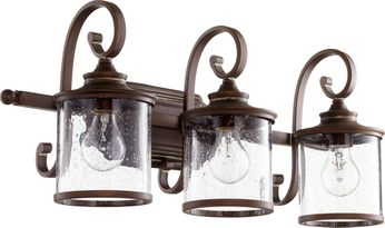 Quorum 5073-3-39 San Miguel Vintage Copper 3-Light Bathroom Lighting Fixture