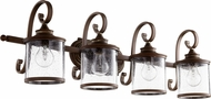 Quorum 5073-4-39 San Miguel Vintage Copper 4-Light Vanity Light