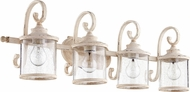 Quorum 5073-4-70 San Miguel Persian White 4-Light Bath Light Fixture