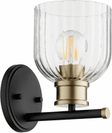 Quorum 510-1-6980 Monarch Noir with Aged Brass Wall Sconce Lighting